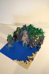 Lego Pirates MOC  Waterfall (Hannibal Joost) Tags: fountain volcano waterfall ship lego pirates pirate cascade moc