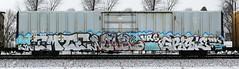 Emte/Vowel/Grisle (quiet-silence) Tags: railroad art train graffiti railcar boxcar graff freight kym vrs fr8 endtoend vowel emte e2e mwcx miniridge grisle mwcx500400