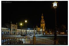 Plaza de España (Nocturna) (protsalke) Tags: light night sevilla nightshot nocturna tokina2035 anawesomeshot d700
