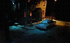 Snow Night 1 (gpholtz) Tags: miniatures mercury diorama 1964 118 marauder diecast