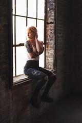 Sammi (MadalynChristine) Tags: light portrait abandoned fashion 35mm canon model grain warehouse milwaukee rockford unif