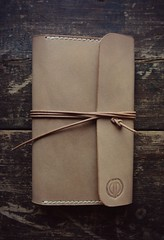 Handmade leather Field Notes cover (esarempee) Tags: field leather nude natural notes handmade wallet cover handsewn handstitched lanyard vegtanned
