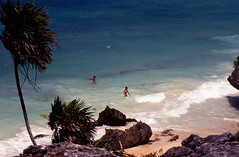 SKINNY DIPPING GIRLS IN TULUM (asiadsb) Tags: girls sea summer beach naked nude mexico surf exploring tulum carribean explore