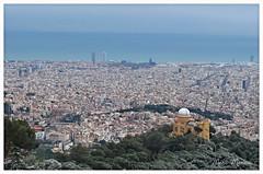 Barcelona (MMP24) Tags: barcelona blue sea sky snow green nature water mar nikon view nieve capital bcn catalonia neve catalunya vistas sagradafamilia tibidabo neu observatori fabra 2015 febrary hotelw observatorifabra 4defebrero d5100