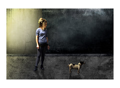 Girl and Dog by howard kendall (howardkendall42) Tags: lighting art contrast artistic creative artworks girlanddog likeapainting classicart howardkendall42