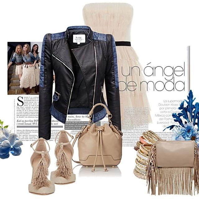 f96d3d1711cd1 Kurtka #damska #ramomeska #jeans #skóra #stylizacja... (Kurtki