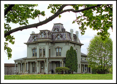 Historic Second Empire Gilbert Mansion in Ypsilanti (sjb4photos) Tags: michigan ypsilanti secondempire washtenawcounty gilbertmansion