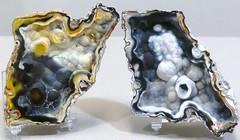 Agate Geode Halves. Each 10cm x 7.5cm (lhboudreau) Tags: agate rock stone rocks stones minerals mineral geode specimen specimens nodules geodes nodule mineralspecimen mineralspecimens agategeode agategeodes geodehalves geodehalfs
