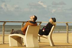 Belgian coast (Natali Antonovich) Tags: sea portrait water smile seaside mood horizon lifestyle northsea relaxation oostende seashore seasideresort belgiancoast seaboard heandshe