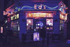 Ed's (RosLol) Tags: street uk light london night colorful neon soho diner eds londra notte lifeinthecity roslol