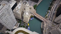 Wacker and Michigan (michael.veltman) Tags: bridge chicago tower water river drive illinois looking michigan taxi north down avenue trump wacker