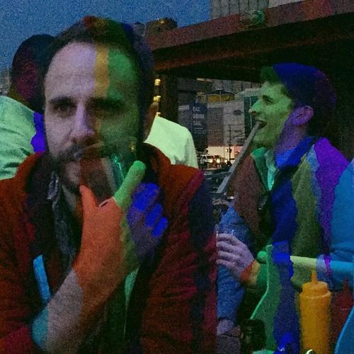 @mattoverthere and Jim Carrey, circa The Mask