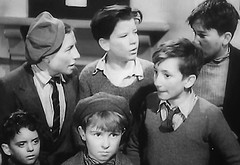 Takes the scene (theirhistory) Tags: uk london film boys hat kids children war wwii kinderen tie crime jacket cap gb ww2 jumper 1942 adults villians bfilm johntacchi