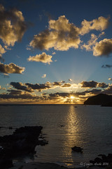 Sunset on Lord Howe Island (NettyA) Tags: sunset sky sun reflection water clouds landscape rocks australia nsw sunrays unescoworldheritage lordhoweisland thelagoon 2016 lhi lordhoweforclimate