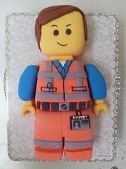 Emmet Lego cake (Divine Cakes Iloilo) Tags: birthday cakes cake dc cafe lego divine iloilo roxas fondant emmet