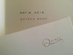 Spring menus (cbcastro) Tags: sanfrancisco paper menus typography quince specialoccasion