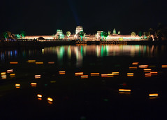 Floating Candles at Angkor Wat (Rob Kroenert) Tags: new reflection night temple ancient asia cambodia long exposure candles khmer year prayer floating siem reap southeast float angkor wat moat 2016 sangkran sankranta sangkranta