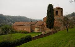 Vezzolano Abbey (Lord Markus) Tags: old italy tower abbey rain italian ancient nikon italia sigma overcast wideangle belltower campanile piemonte monastery convento 1020 decayed langhe abbazia vezzolano d300s