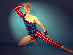 Bowie make up Ziggy Stardust (geaeducatieandfantasy) Tags: david sexy male make up fashion rock sex cat star bowie model culture pop retro suit blond blonde theo van knitted seventies ziggy stardust geert gorp dekkers atheletic