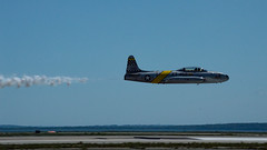 T-33 Pass (EHPett) Tags: airplane airshow rhodeisland lockheed shootingstar t33 acemaker