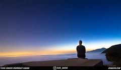 En las nubes... (DGNacho.com) Tags: blue sunset sky nature fog night clouds contrast canon wow stars outdoors view hike trail views gradient pasadena cloudporn altadena teamcanon enjoypasadena