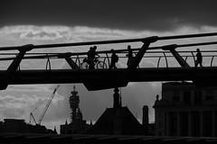 Millennium Bridge (DaveWilliams) Tags: london londonist post office tower gpo crane cycle bicycle photographer tourist