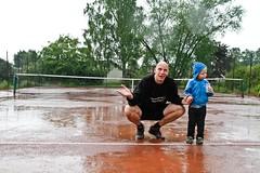 Regnavbrott 2012-06-09 (Michael Erhardsson) Tags: rain juni delay tennis regn henrik 2012 htk wester tvling uppskjutet hallsberg regnvder bltt tennisbana hallsbergstrffen regnavbrott