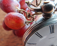 As time goes by ... (Reinardina) Tags: old macro fruit time watch grapes wrinkles pocketwatch tabletopphotography macromondays