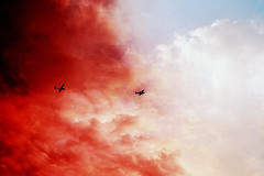 Flying in the clouds (Jaimie Wylie Photography) Tags: travel sky film clouds plane magic dream adventure