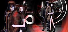 Hex . (Venus Germanotta) Tags: secondlife fashion goth laveyan satan evil couple cute pentagram hell satanist ominous dark atmosphere fire inferno blackmagic occult