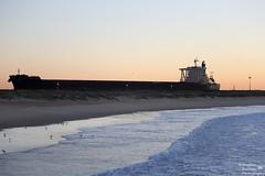 0D6A9805 - shipping (Stephen Baldwin Photography) Tags: ocean city sea water sunrise newcastle ship australia vessel nsw