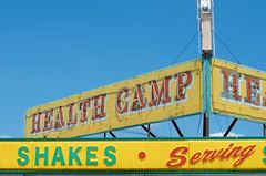 The heavy-weight champ of Health Camp (dangr.dave) Tags: waco tx texas downtown historic architecture mclennancounty neon neonsign healthcamp shakes
