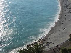 Nice (Nadia Massacani) Tags: blue sea sun france beach nature nice flickr mare francia frenchriviera flickrtravelaward