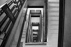 Harrods - 7th floor of very expensive shopping (filippo.bassato) Tags: city uk trip england blackandwhite london stairs harrods londra filippobassato