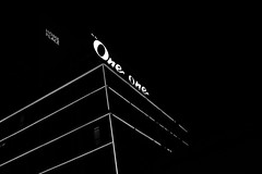 One One (jcbkk1956) Tags: white signs black night thailand mono hotel blackwhite neon fuji bangkok thonglo xt1 27mmf28