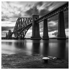 177/366 Forth Rail Bridge (Sarah*Rose) Tags: bridge sky bw white seascape black river landscape scotland pier long exposure rail forth lee lowtide filters queensferry endinburgh littlestopper