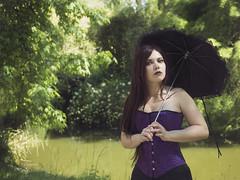 Faustine 5 (l'instant - D) Tags: woman femme gothic victorian corset romantic gothique romantique ombrelle