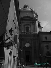 chiesa di S. Maria della Vita (Melvintay) Tags: polaroid shot fotografia autoscatto selfie lovebw igersbologna fotografandolacitta lovebiancoenero faiclick mettiafuocoescatta lovesbologna scattoinbiancoenero