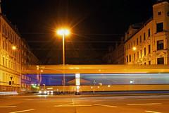 Leipzig bei Nacht (ingrid eulenfan) Tags: night nacht leipzig 1020mm strassenbahn nachtaufnahme langzeitbelichtung kurteisnerstrasse sonyalpha65