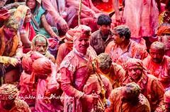 Barsana Nandgaon Lathmar Holi Low res (39 of 136) (Sanjukta Basu) Tags: holi festivalofcolour india lathmarholi barsana nandgaon radhakrishna colours