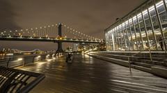 Manhattan Bridge and Jane's Carousel (rafaelpuerto) Tags: park nyc longexposure ny newyork brooklyn manhattan dumbo carousel manhattanbridge 1018 longexpo rafaelpuerto