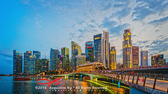 Singapore Skyline (Augustinwee Photography) Tags: sunset architecture sunrise river singapore cityscape hdr touristattraction singaporeriver augustinwee
