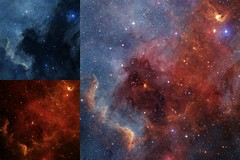 Great Lakes (geckzilla) Tags: wise infrared dust visible dss emission yso ngc7000 northamericannebula cygnuswall youngstellarobject