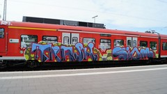 Graffiti (Honig&Teer) Tags: railroad sport train graffiti steel db urbanart deutschebahn sbahn treno aerosolart spraycanart hildesheim traingraffiti trainart railroadgraffiti dbregio honigteer