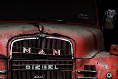 The Wisest Red Truck. (carlossiri) Tags: old red man truck wonder diesel antique exploring wise ataco