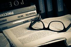 Old masters (kristin.mockenhaupt) Tags: writing buch lesen word reading glasses tales letters books story fairy abc alphabet brille worte stories author autor mrchen bcher buchstaben wrter geschichten