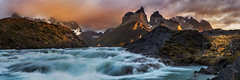 The Falls (beaugraph) Tags: chile longexposure panorama patagonia landscape grande waterfall nationalpark pano panoramic salto torresdelpaine