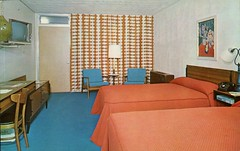 Allen Park Motor Lodge, Michigan (SwellMap) Tags: architecture vintage advertising design pc 60s fifties postcard suburbia style kitsch retro nostalgia chrome americana 50s roadside googie populuxe sixties babyboomer consumer coldwar midcentury spaceage atomicage