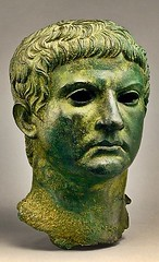 Ancient Rome. Bronze head of Marcus Agrippa, 1st century BCE. He married Augustus' daughter Julia. Through her he was grandfather and great grandfather to the emperors Gaius (Caligula) and Nero respectively. (mike catalonian) Tags: portrait sculpture bronze head ancientrome 1stcenturybce marcusagrippa