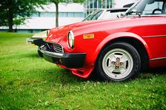 Fiat 124 Spider (Eric Flexyourhead (shoulder injury, slow)) Tags: red canada car zeiss spider italian bc fiat britishcolumbia 124 northvancouver waterfrontpark shallowdepthoffield 2016 fiat124spider 55mmf18 italianfrenchcarbikefestival sonyalphaa7 zeisssonnartfe55mmf18za